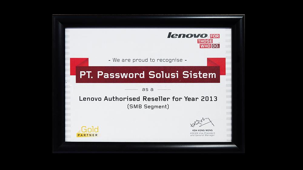 Lenovo Authorised Reseller SMB Segment 2013