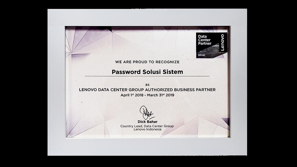 Lenovo Data Center Group Authorized Business Partner
